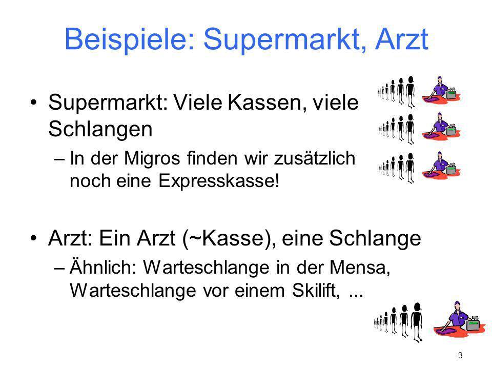 Beispiele: Supermarkt, Arzt