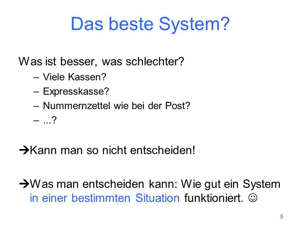 Das beste System Was ist besser, was schlechter