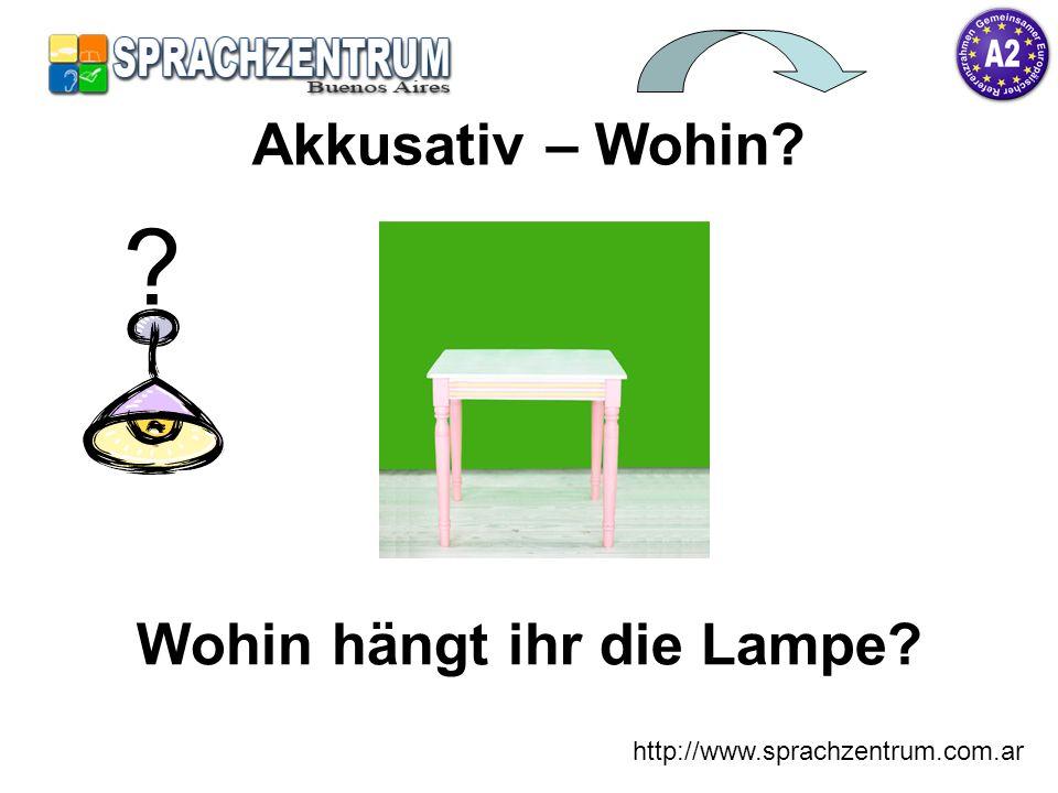 Wohin hängt ihr die Lampe