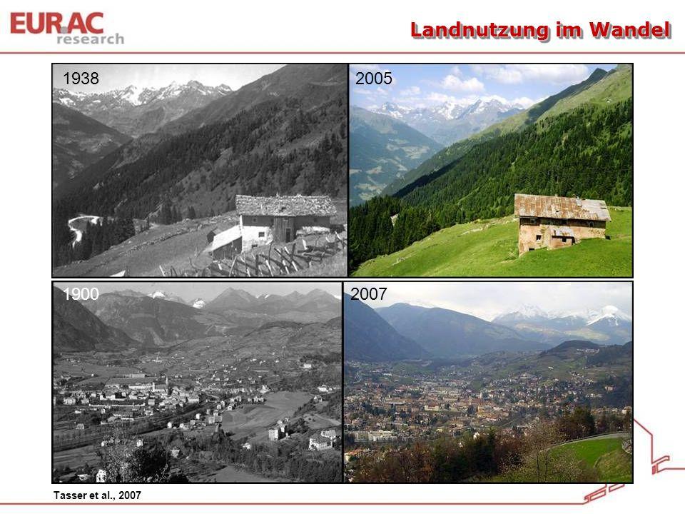 Landnutzung im Wandel 1938 2005. 1900 2007.