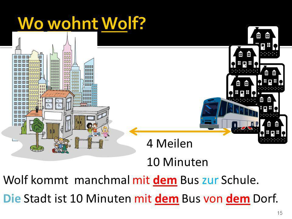 x Wo wohnt Wolf 4 Meilen 10 Minuten