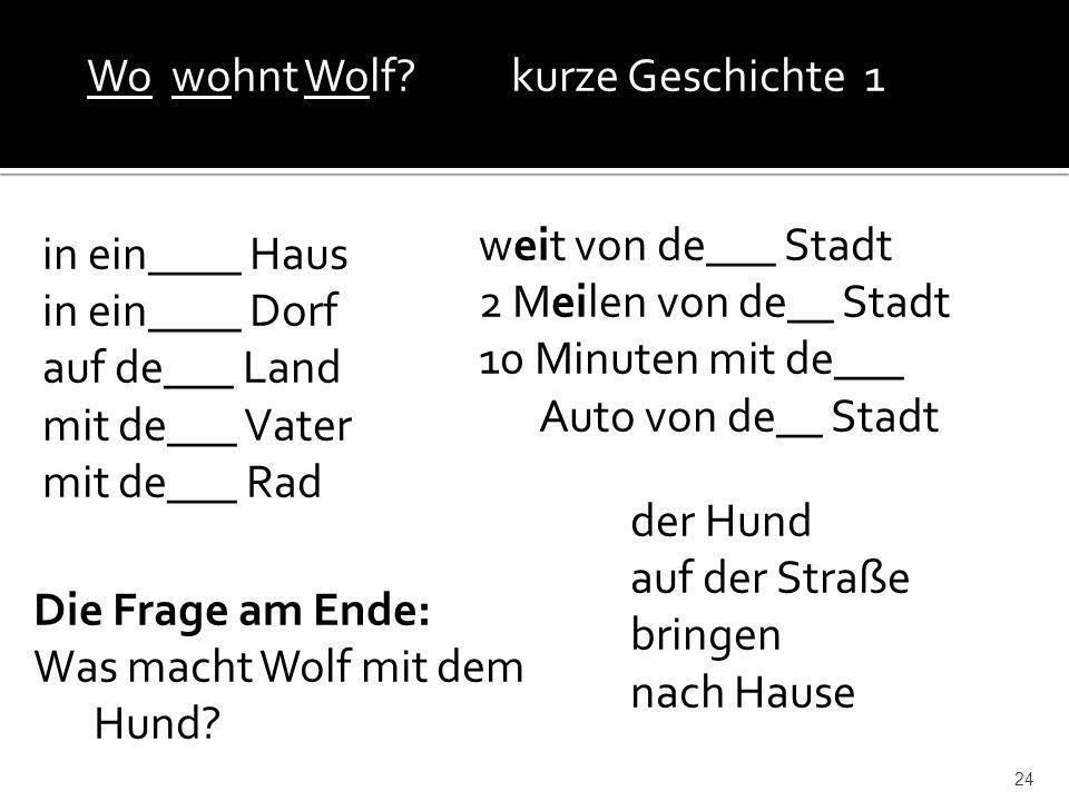 Wo wohnt Wolf kurze Geschichte 1
