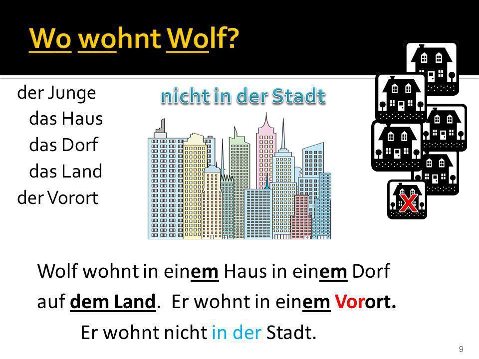 x Wo wohnt Wolf nicht in der Stadt