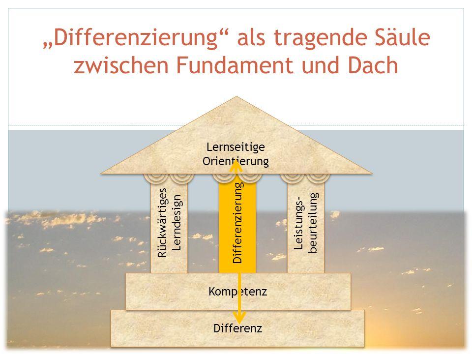"""""""Differenzierung als tragende Säule zwischen Fundament und Dach"""
