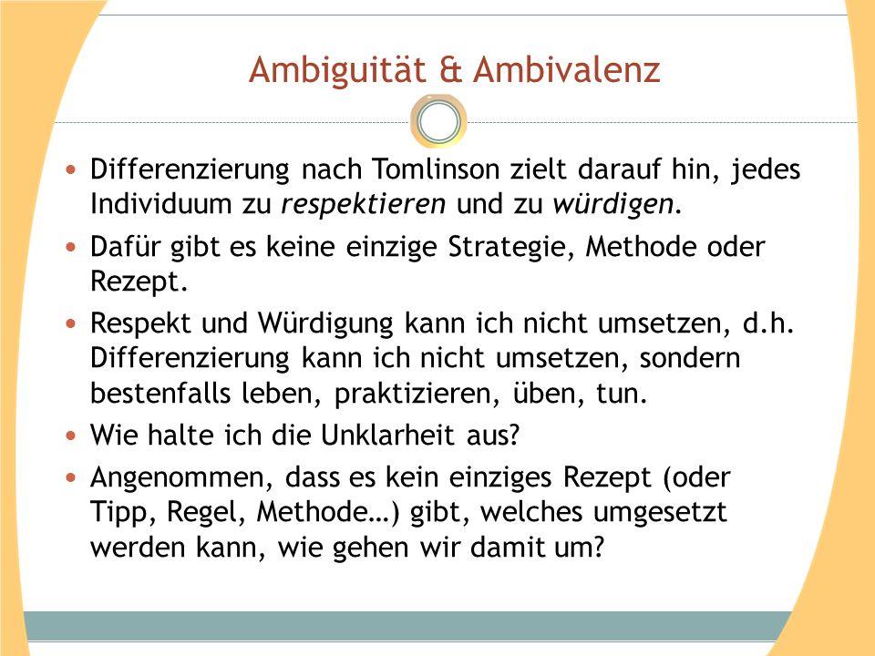 Ambiguität & Ambivalenz