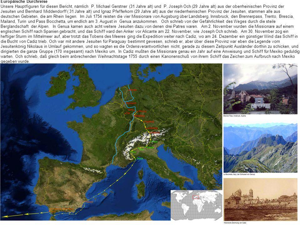 Europäische Durchreise Unsere Hauptfiguren für diesen Bericht, nämlich P.