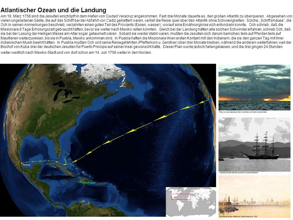 Atlantischer Ozean und die Landung Am 19