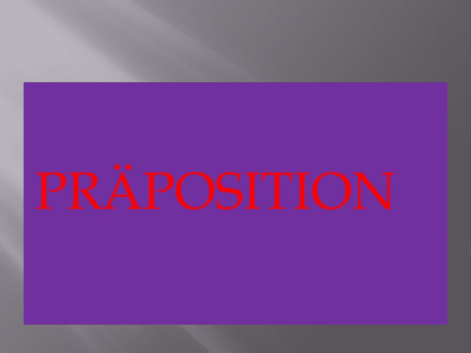 PRÄPOSITION