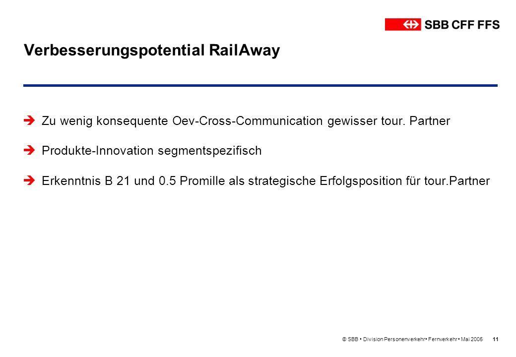 Verbesserungspotential RailAway