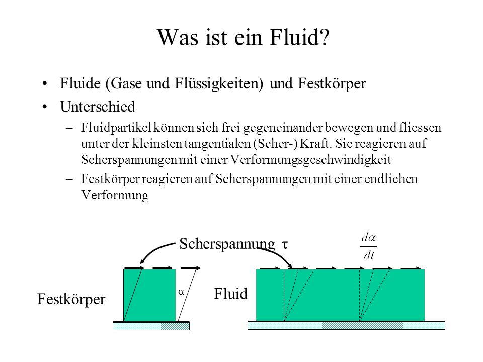 Was ist ein Fluid Fluide (Gase und Flüssigkeiten) und Festkörper