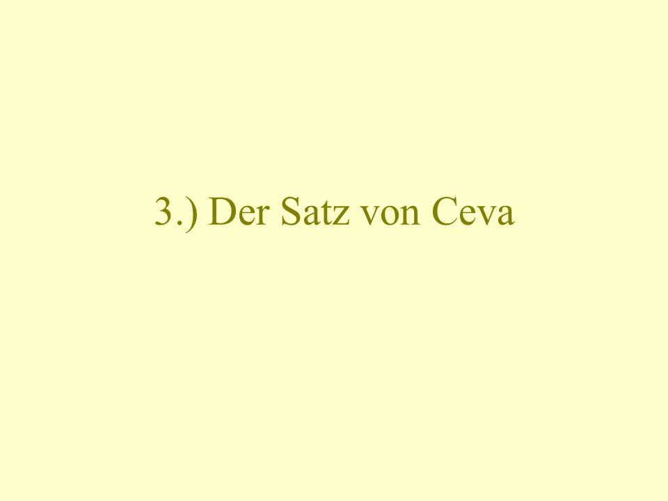 3.) Der Satz von Ceva