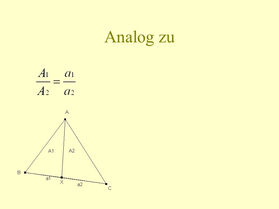 Analog zu