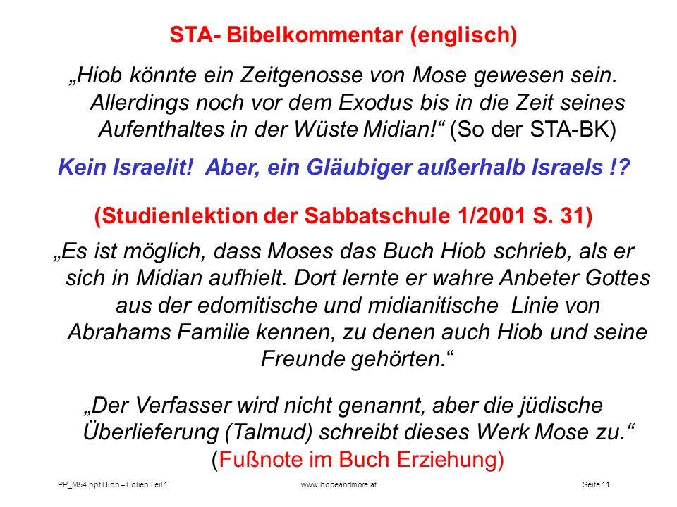 STA- Bibelkommentar (englisch)