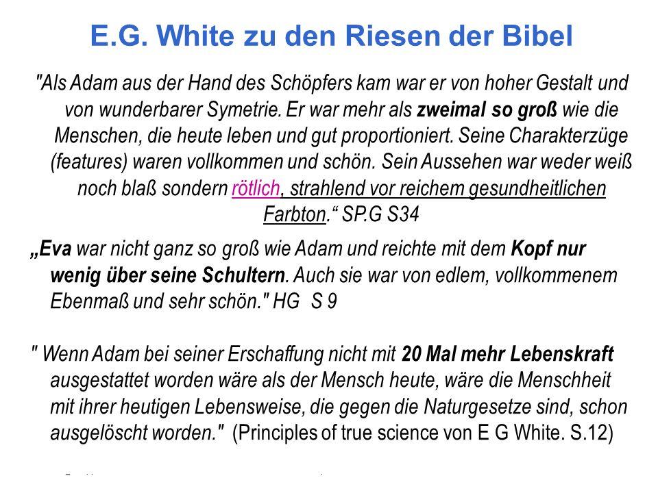 E.G. White zu den Riesen der Bibel