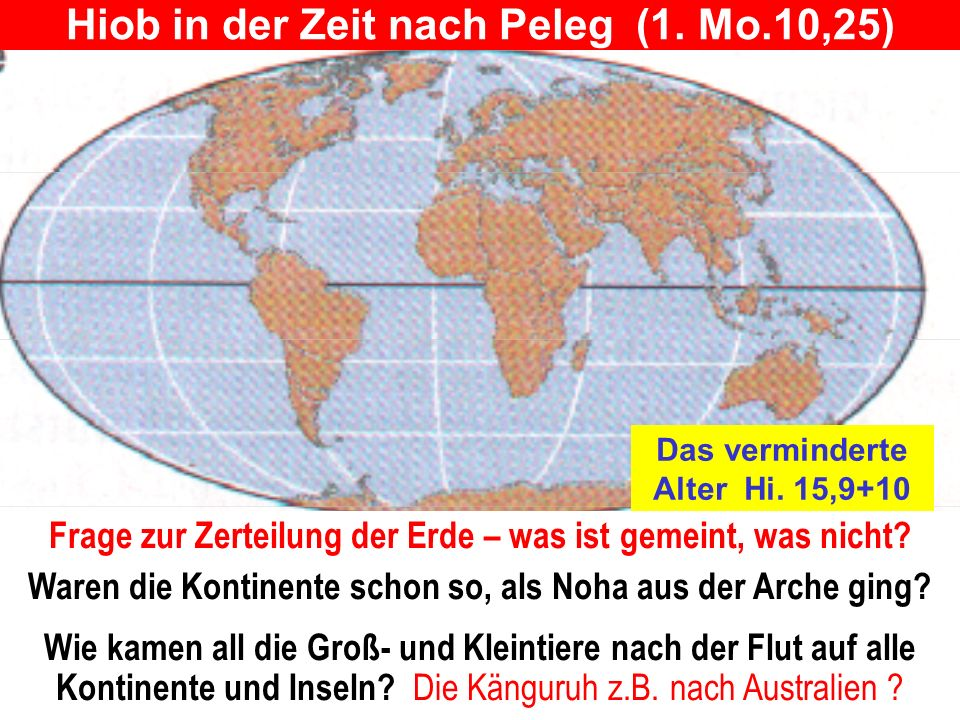 Hiob in der Zeit nach Peleg (1. Mo.10,25)