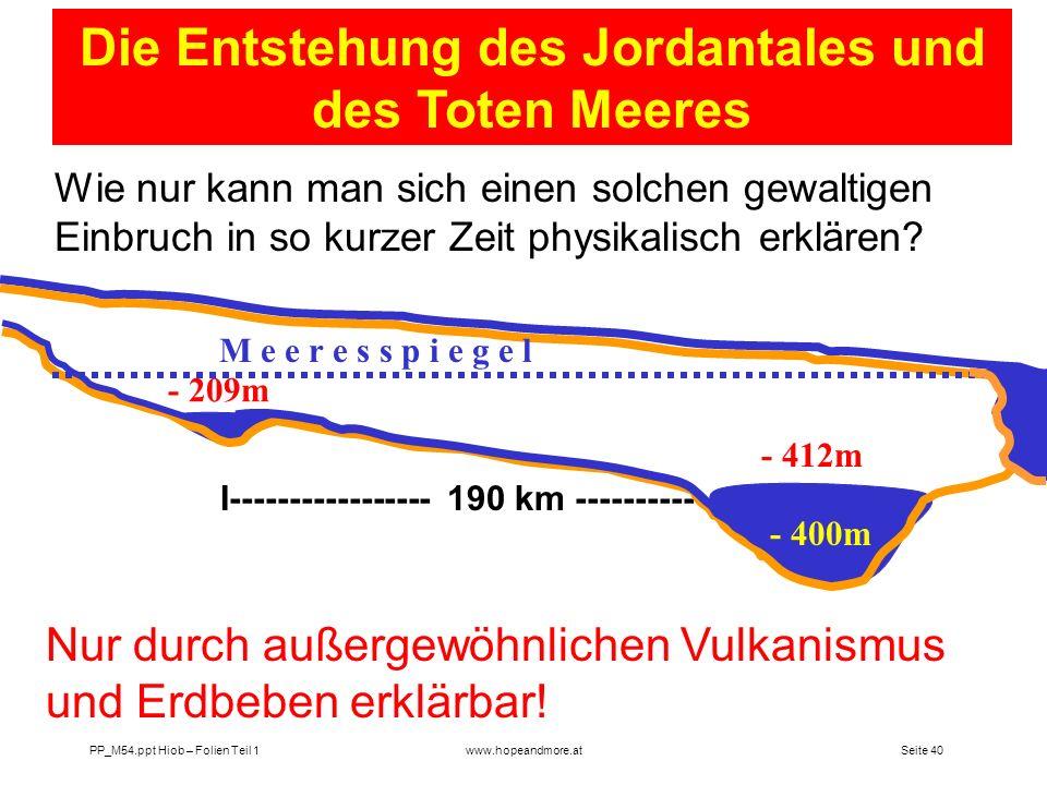 Die Entstehung des Jordantales und des Toten Meeres