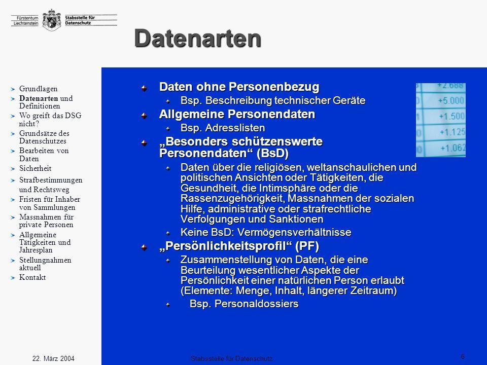 Stabsstelle für Datenschutz