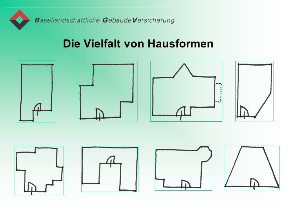 Die Vielfalt von Hausformen