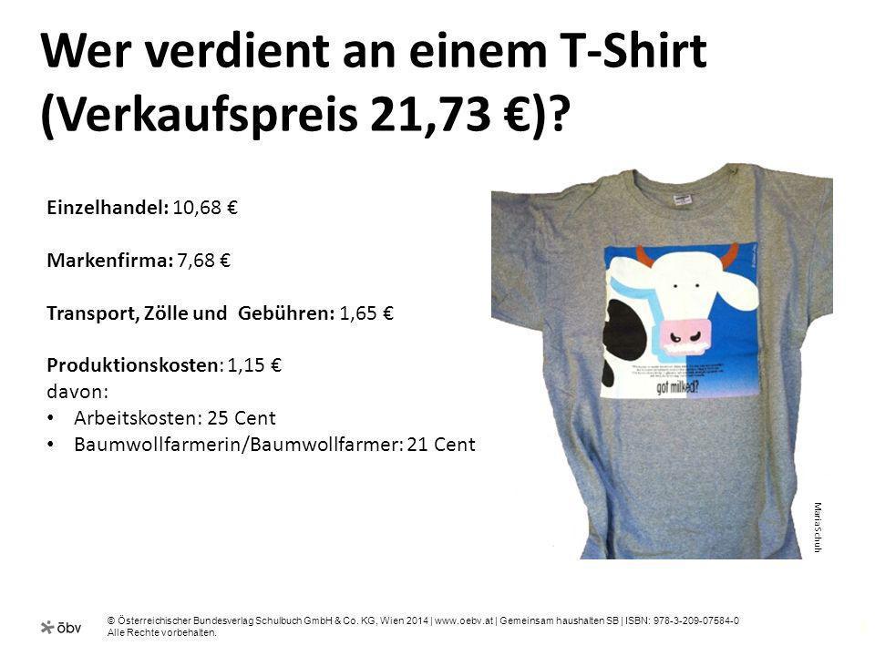 Wer verdient an einem T-Shirt (Verkaufspreis 21,73 €)