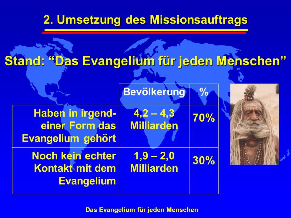 Stand: Das Evangelium für jeden Menschen