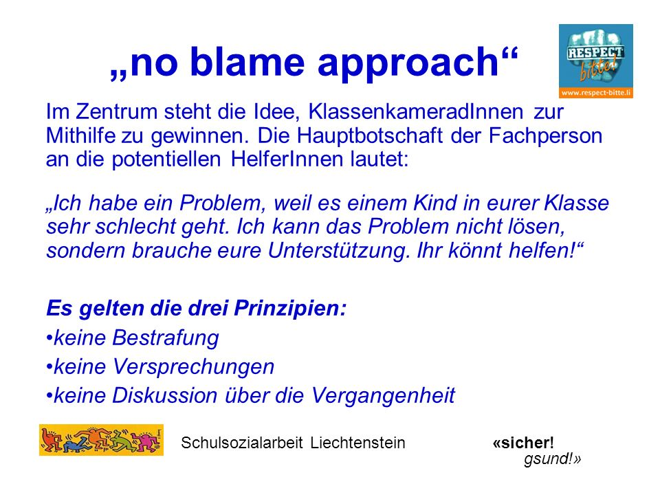 """no blame approach"