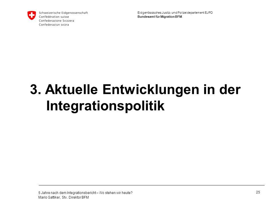 3. Aktuelle Entwicklungen in der Integrationspolitik