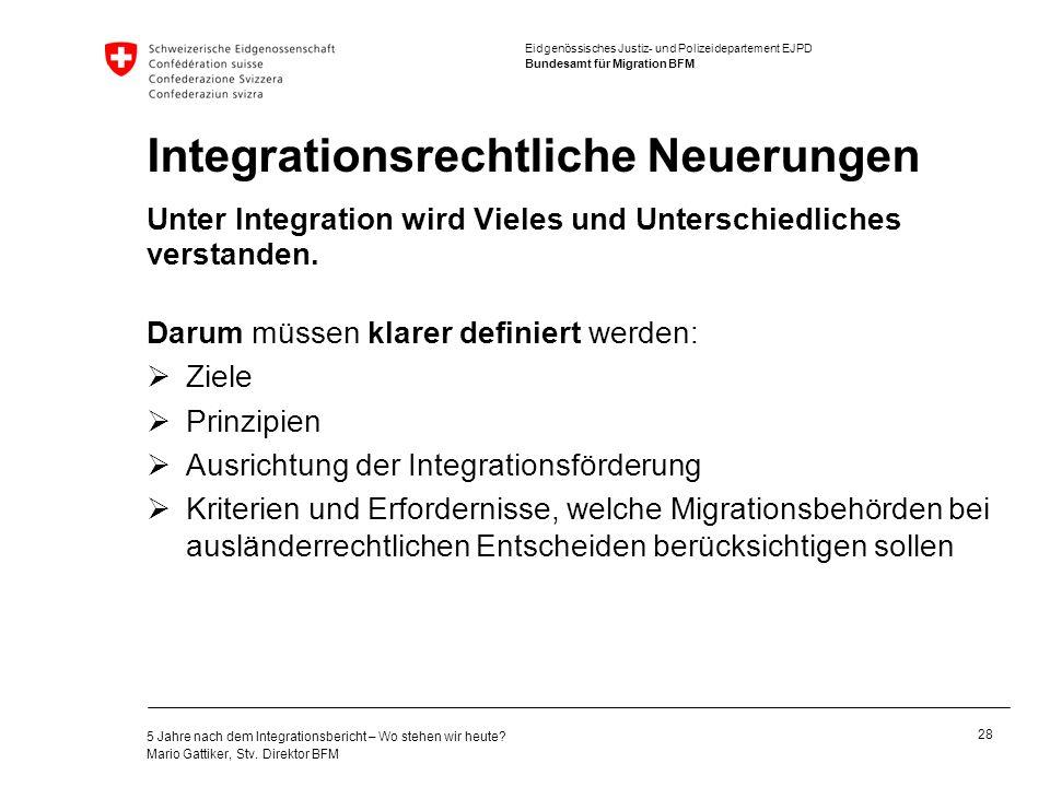 Integrationsrechtliche Neuerungen
