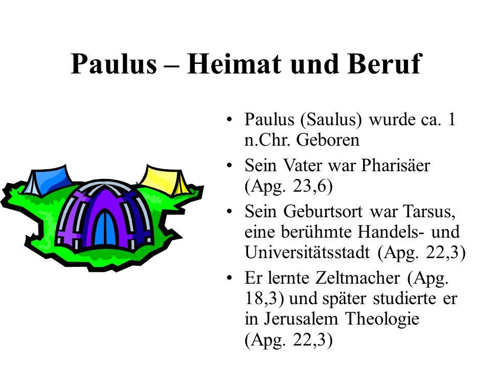 Paulus – Heimat und Beruf