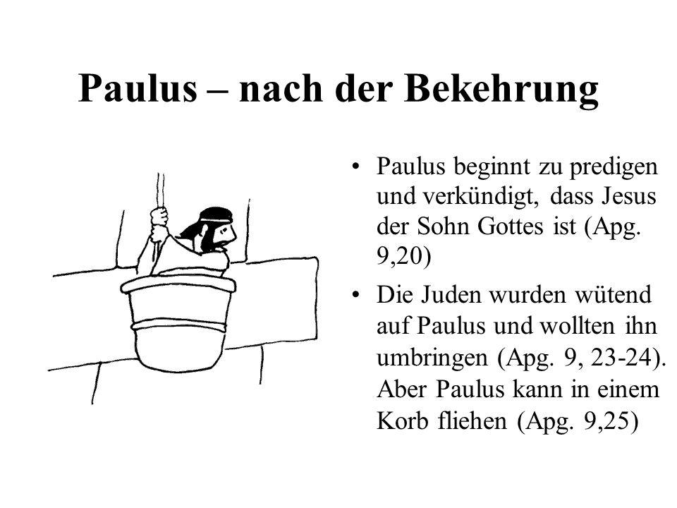 Paulus – nach der Bekehrung