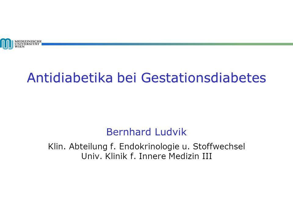 Antidiabetika bei Gestationsdiabetes