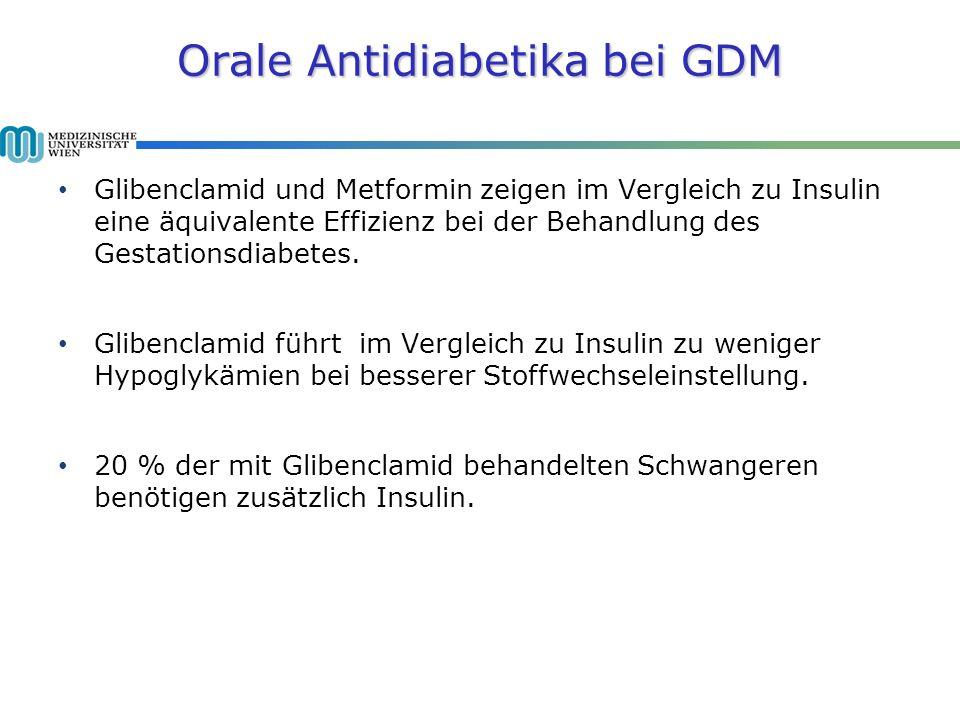 Orale Antidiabetika bei GDM