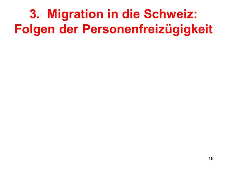 3. Migration in die Schweiz: Folgen der Personenfreizügigkeit