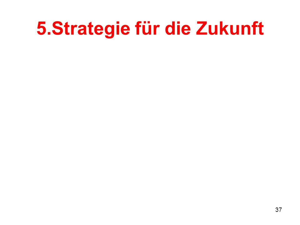 5.Strategie für die Zukunft