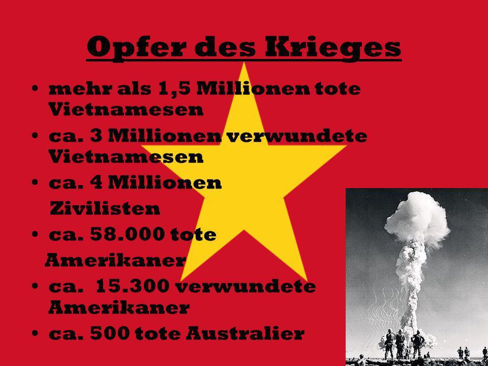 Opfer des Krieges mehr als 1,5 Millionen tote Vietnamesen