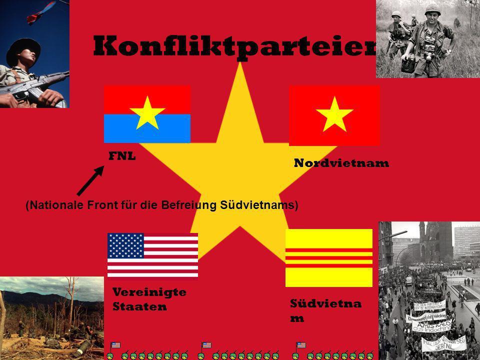 Konfliktparteien FNL Nordvietnam