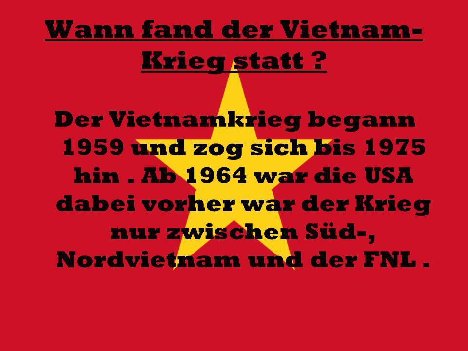 Wann fand der Vietnam-Krieg statt