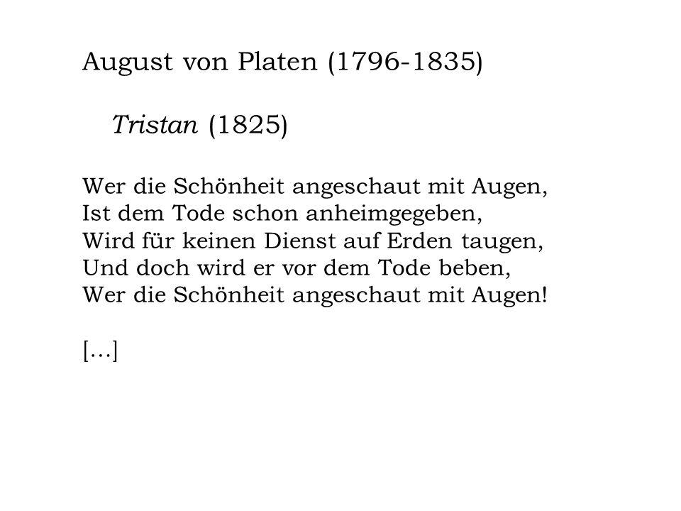 Tristan (1825) August von Platen (1796-1835)