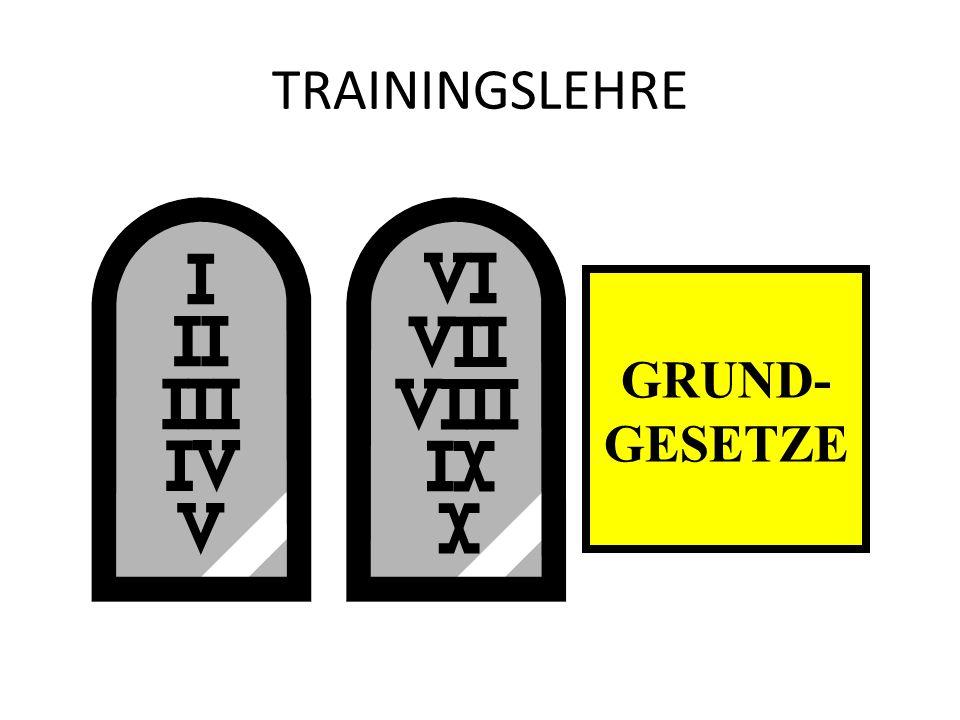 TRAININGSLEHRE GRUND- GESETZE