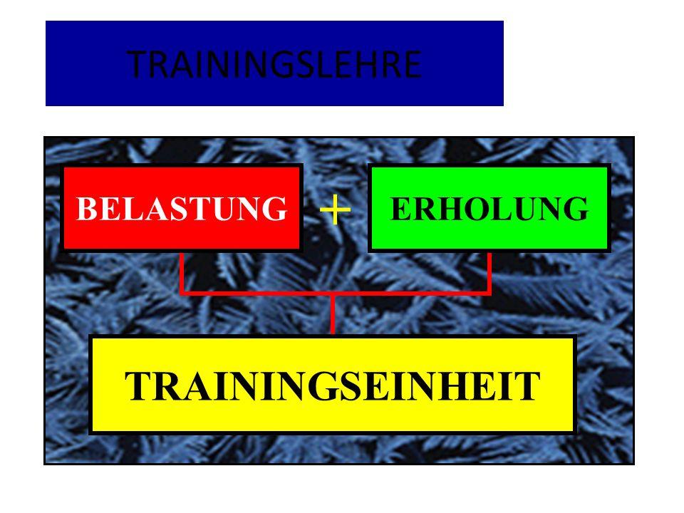 TRAININGSLEHRE BELASTUNG ERHOLUNG + TRAININGSEINHEIT