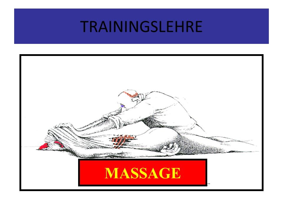 TRAININGSLEHRE MASSAGE