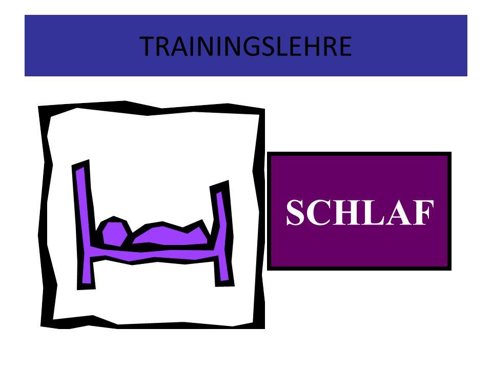 TRAININGSLEHRE SCHLAF