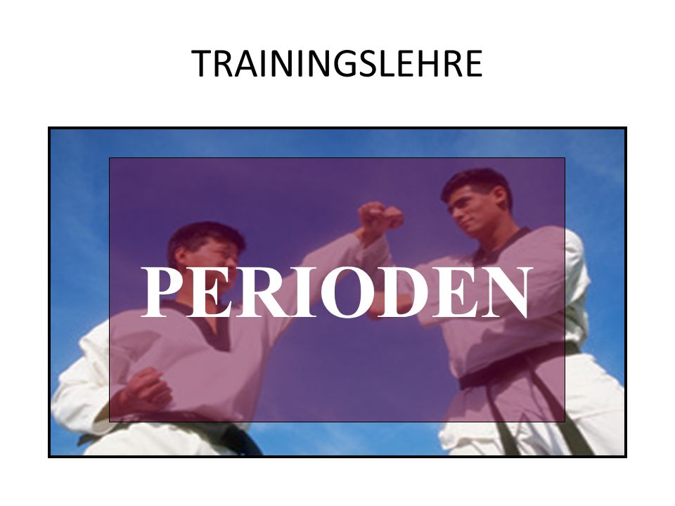TRAININGSLEHRE PERIODEN