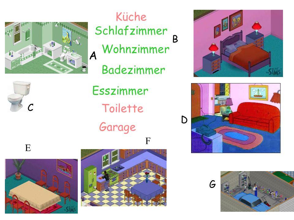 Küche Schlafzimmer Wohnzimmer A Badezimmer Esszimmer Toilette Garage B