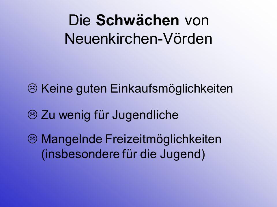 Die Schwächen von Neuenkirchen-Vörden