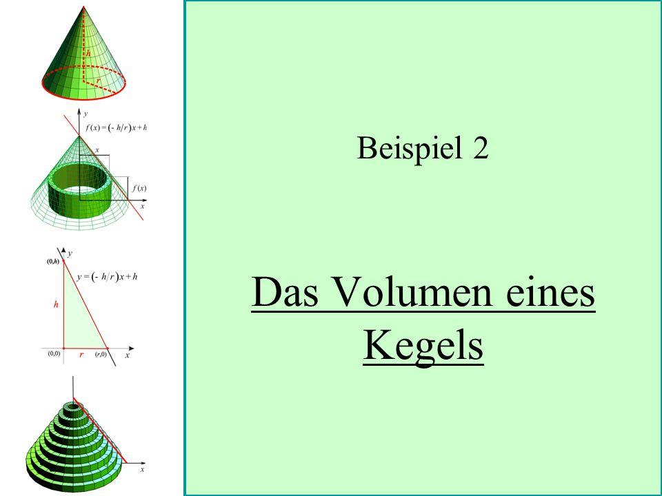 Beispiel 2 Das Volumen eines Kegels