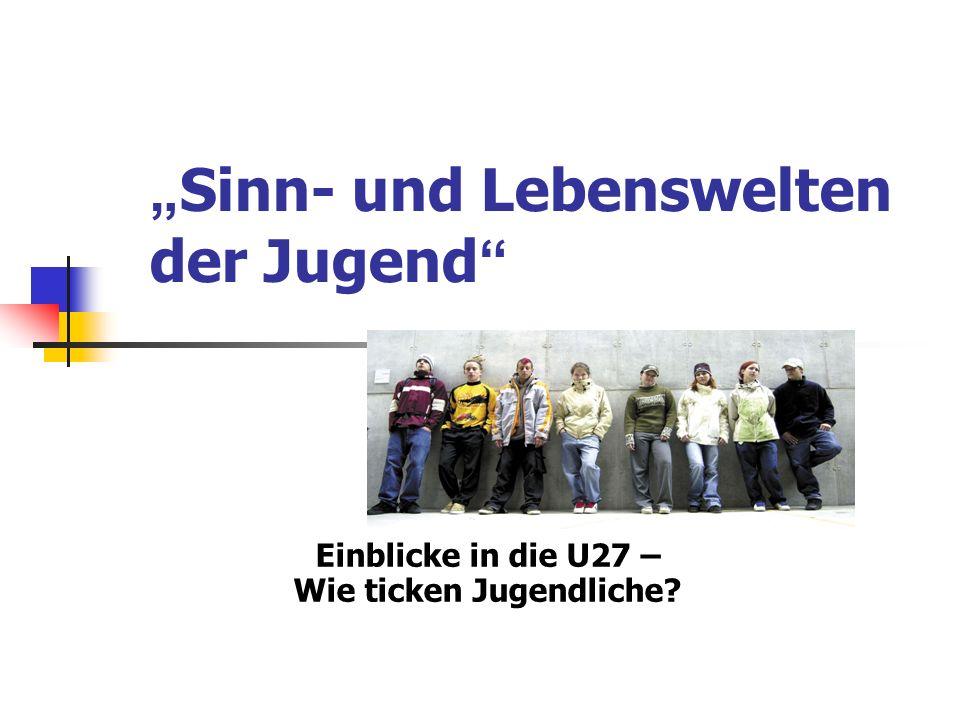 """""""Sinn- und Lebenswelten der Jugend"""