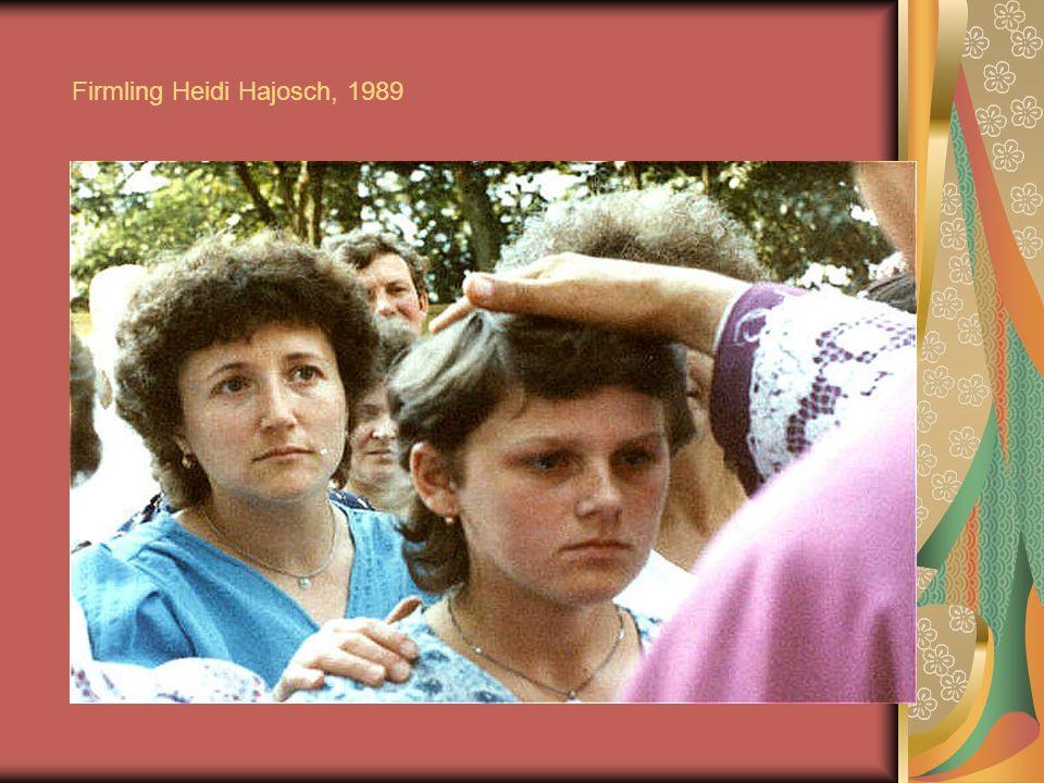 Firmling Heidi Hajosch, 1989