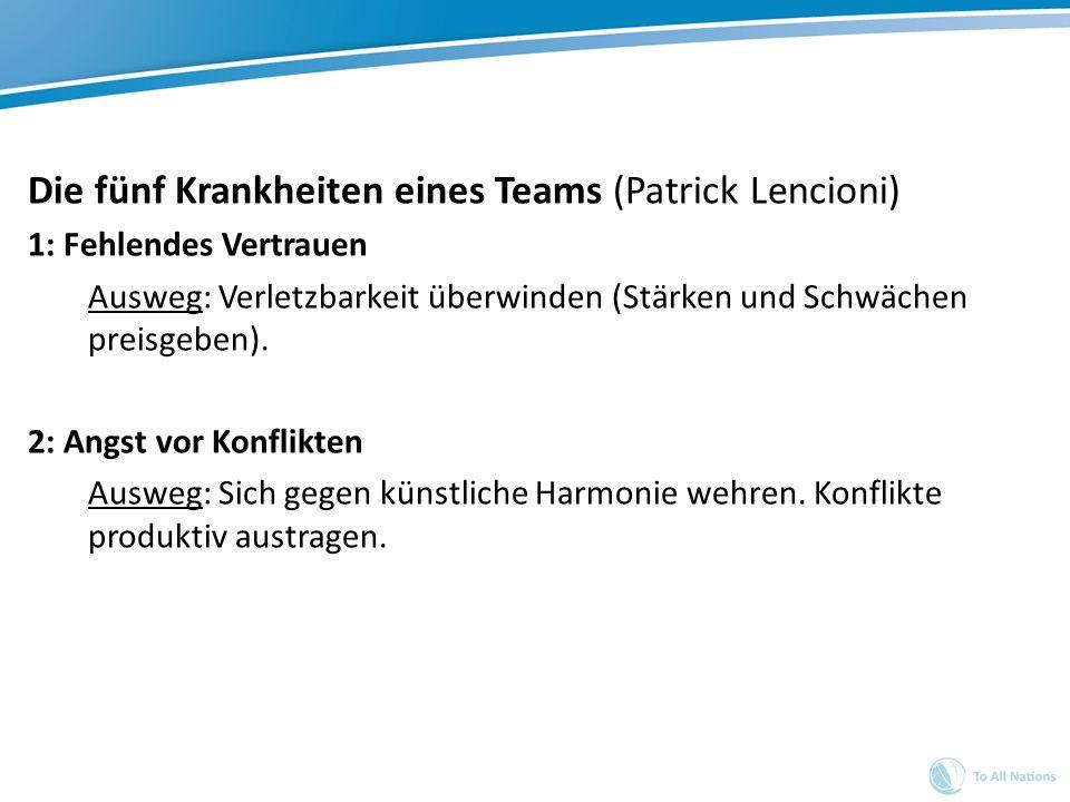 Die fünf Krankheiten eines Teams (Patrick Lencioni)