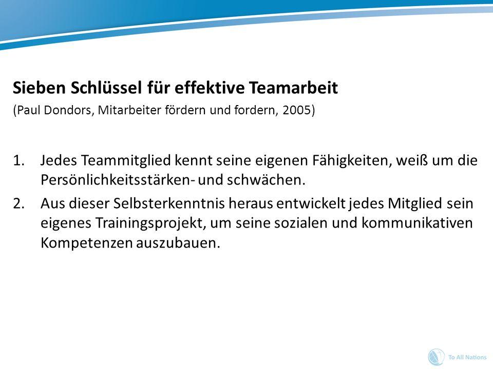 Sieben Schlüssel für effektive Teamarbeit