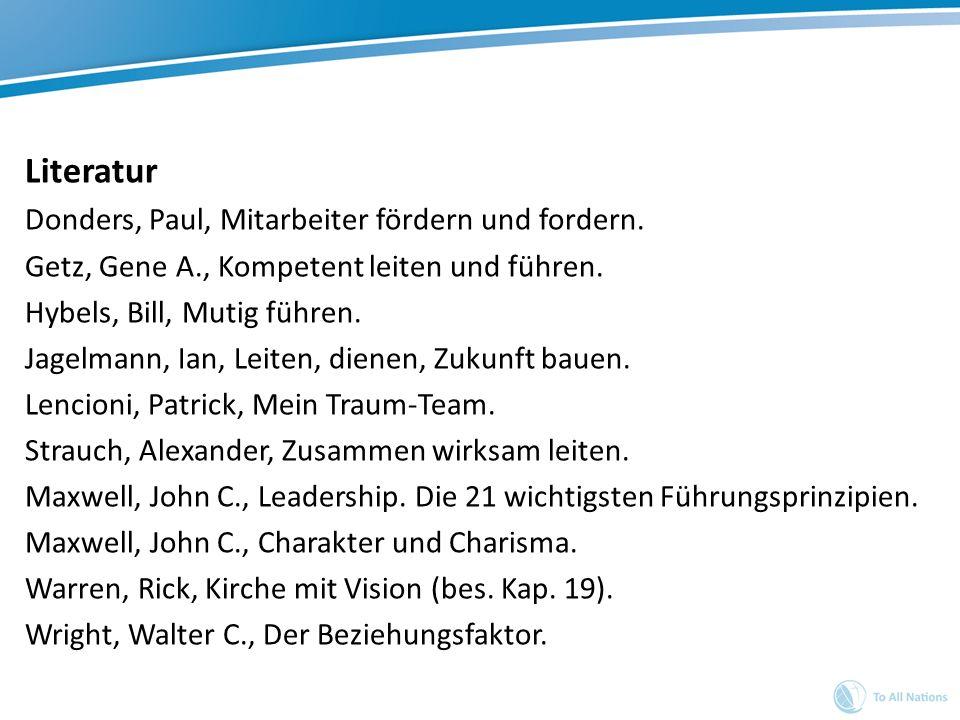 Literatur Donders, Paul, Mitarbeiter fördern und fordern.